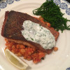 Crispy Salmon with Chickpeas