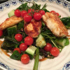 Halloumi salad for summer